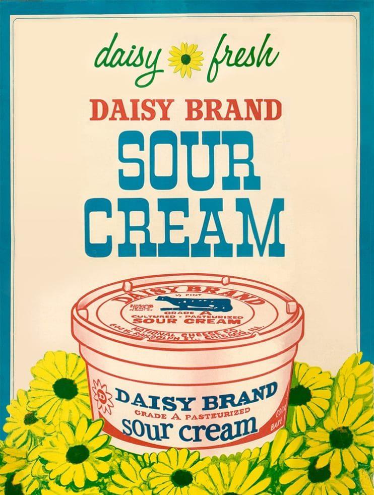 Daisy Brand Sour Cream vintage poster