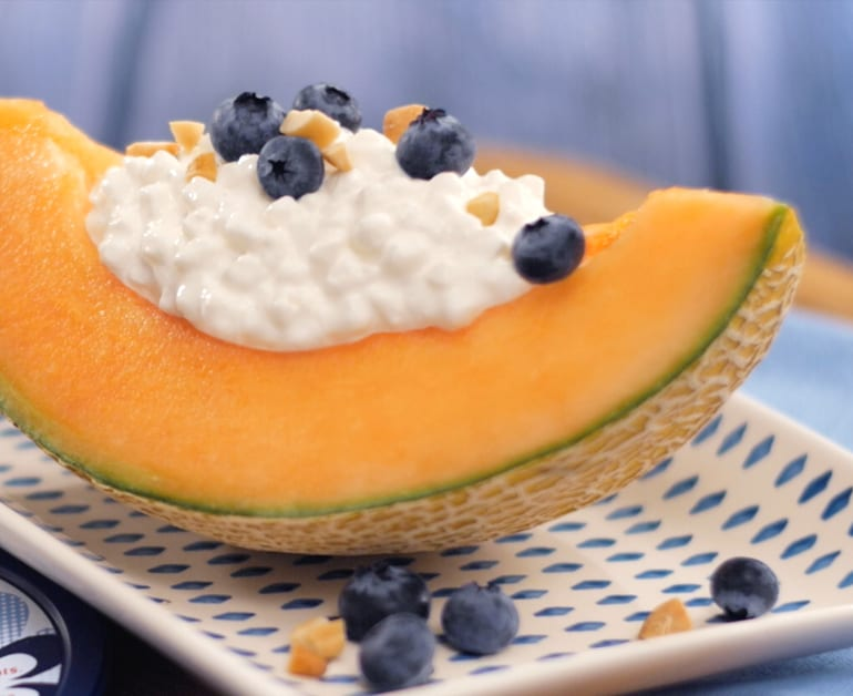 Protein Packed Cantaloupe Berry Bowls slider image