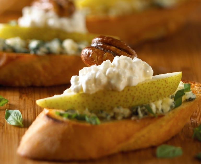 View recommended Cottage Cheese and Pear Crostini recipe