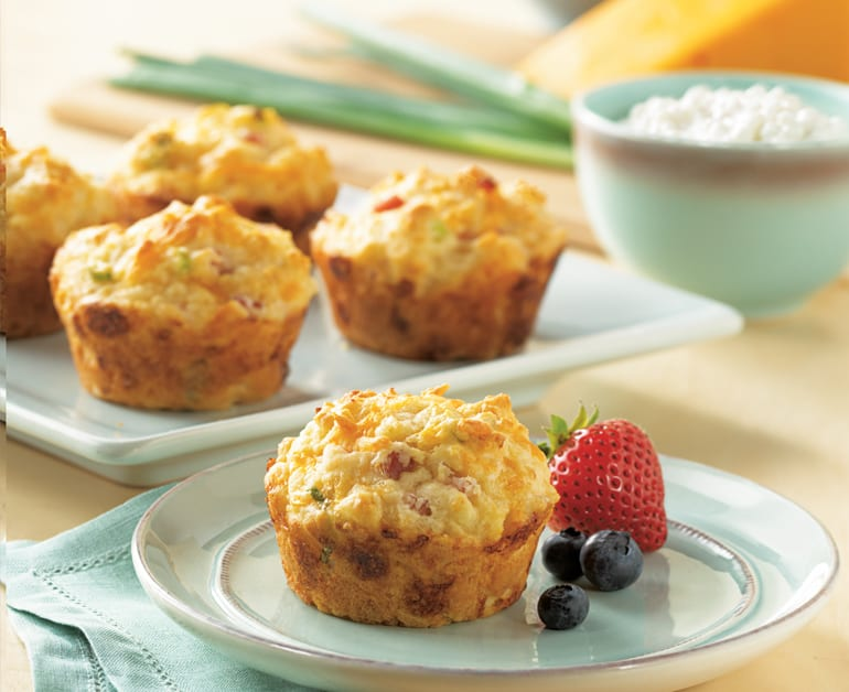 Cottage Cheese, Egg, and Ham Muffins slider image
