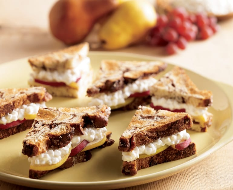 Cheese and Pear Sandwiches slider image