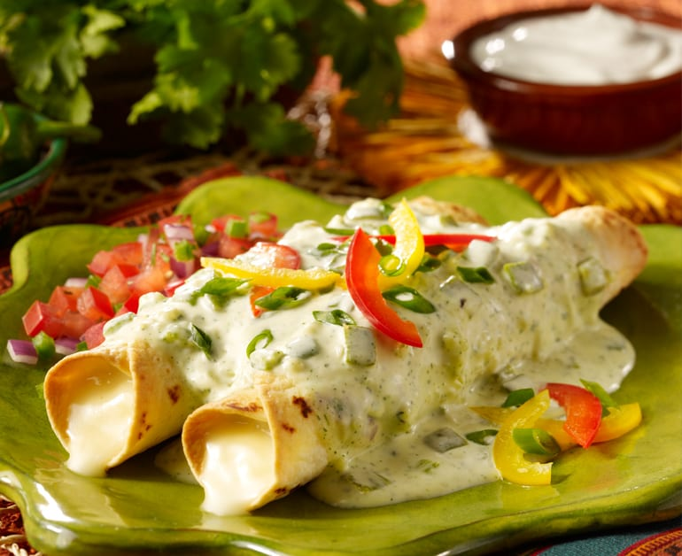 View recommended Creamy Enchilada Sauce with Cheese Enchiladas recipe