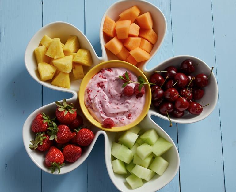Creamy Raspberry Fruit Dip slider image