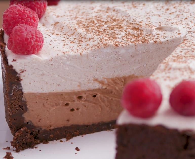 Chocolate Hazelnut and Tres Leches Mousse Pie slider image 1