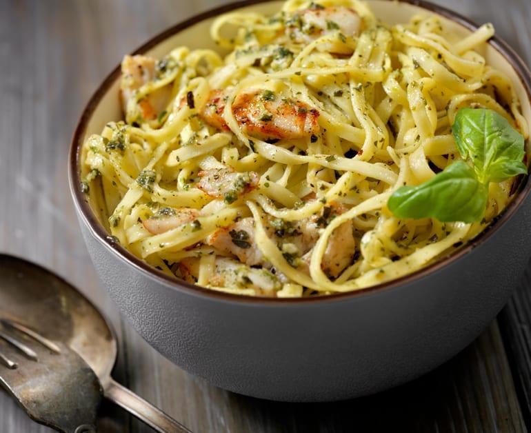 Sour Cream Pasta with Herb Roasted Turkey slider image