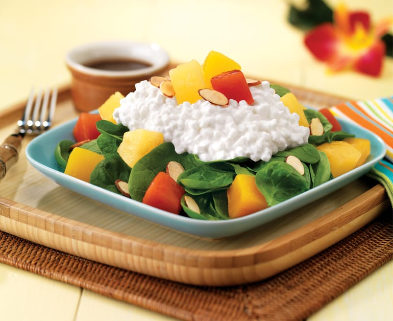 Easy Tropical Fruit Spinach Salad slider image 1