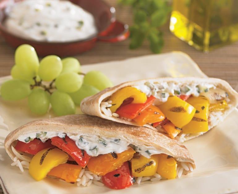 Grilled Mediterranean Pitas slider image 1