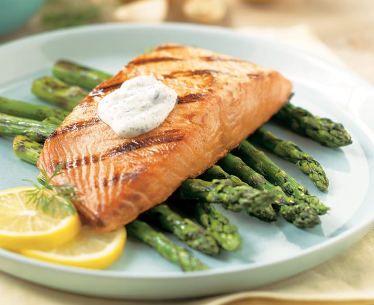Grilled Salmon with Lemon-Dill Sauce slider image 1