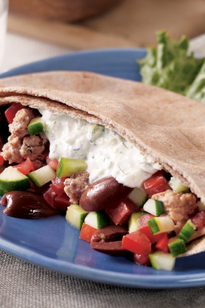 Light Greek Gyros With Tzatziki Sauce Recipe With Sour Cream Daisy Brand