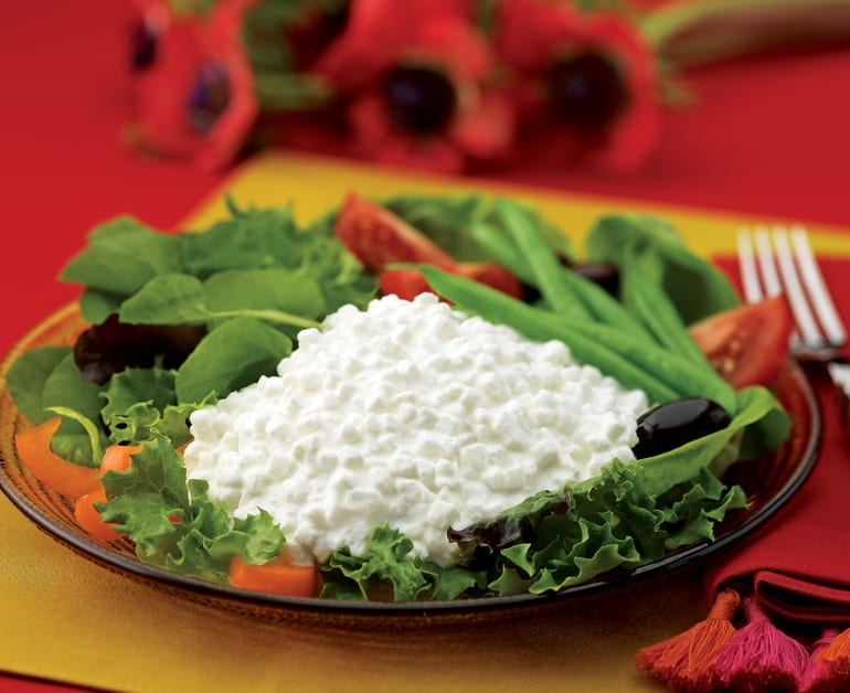 Mixed Greens with Cottage Cheese slider image 1