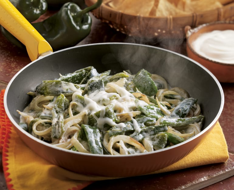 View recommended Rajas Poblanas recipe