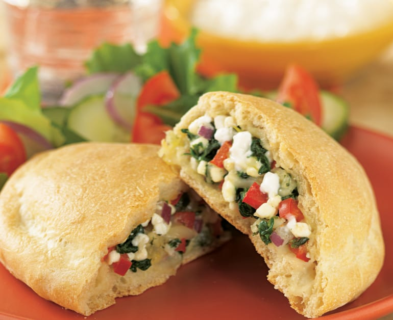 View recommended Spinach and Cheese Calzones recipe