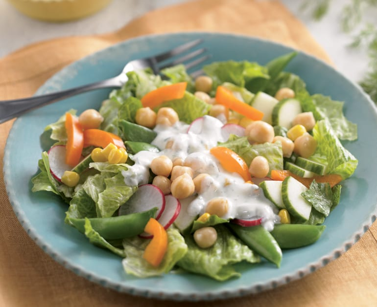 Thumbnail image for Spring Salad with Cheesy Ranch Dressing