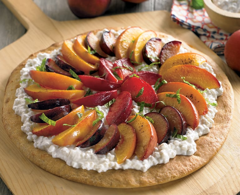 Roasted Stone Fruit Pizza slider image 1