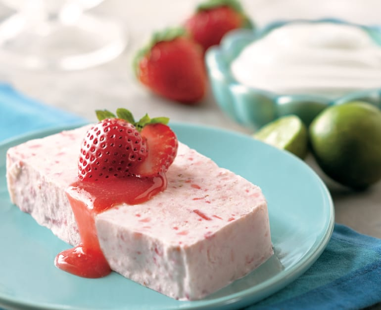 View recommended Strawberry and Lime Semifreddo recipe