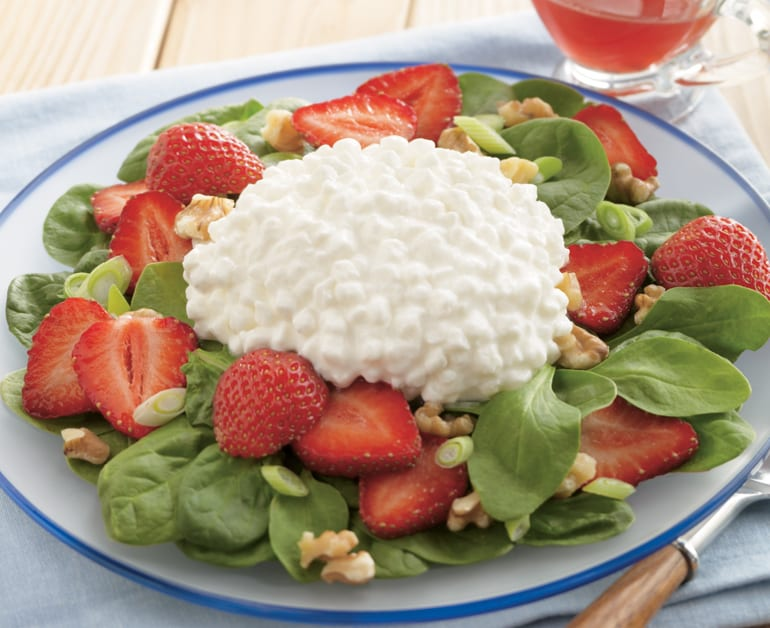 Strawberry, Spinach, & Cottage Cheese Salad slider image 1