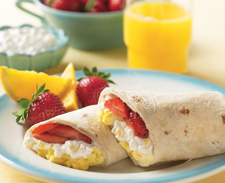 View recommended Sweet Cheesy Breakfast Burritos recipe