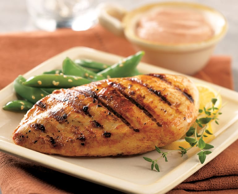 View recommended Grilled Chicken Salad with Creamy Avocado Dressing recipe