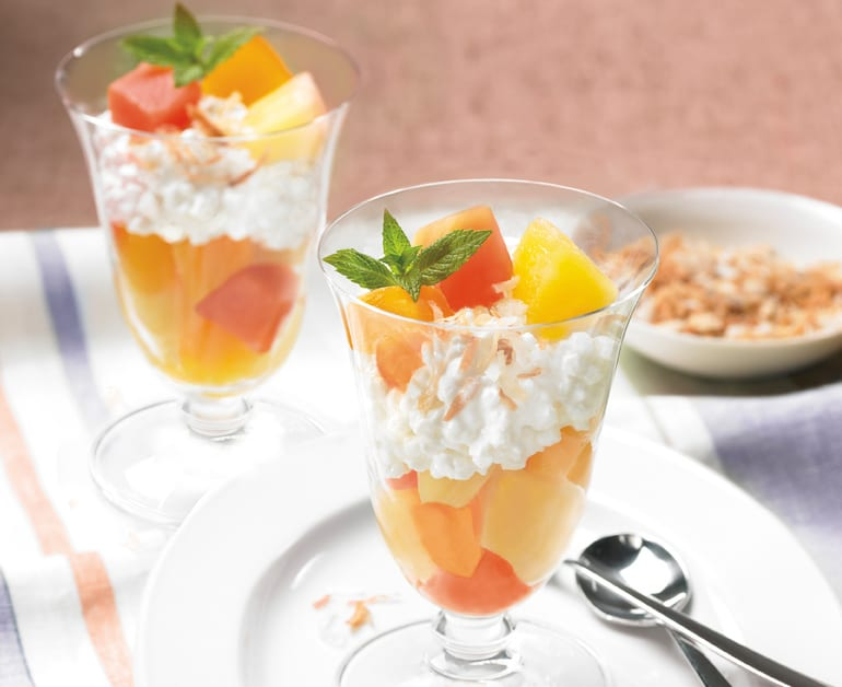 Tropical Cottage Cheese Parfaits slider image 1