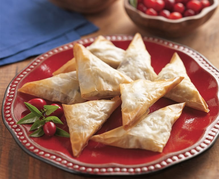 Turkey and Cranberry Party Triangles slider image 1