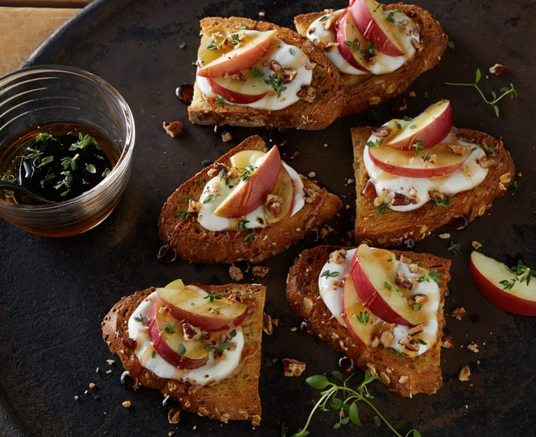 View recommended Apple Pecan Toasts recipe