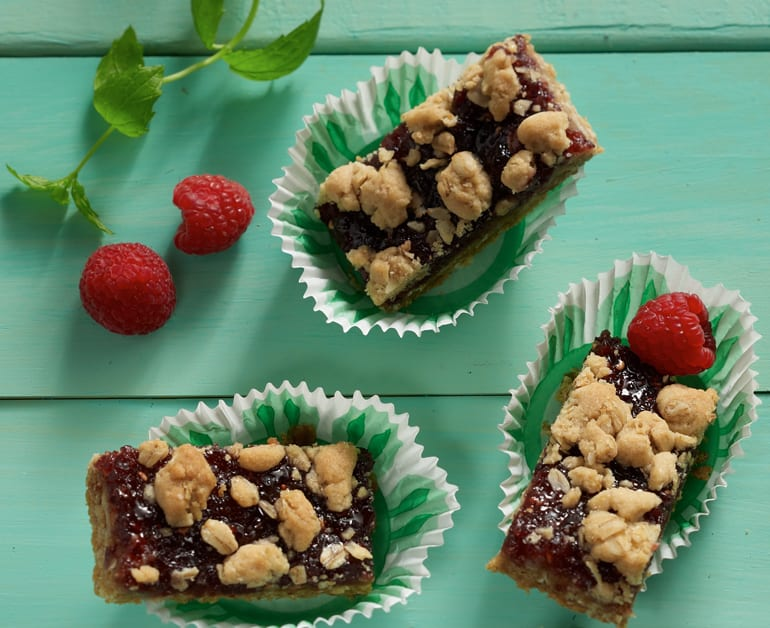 View recommended Berry Crumble Squares recipe