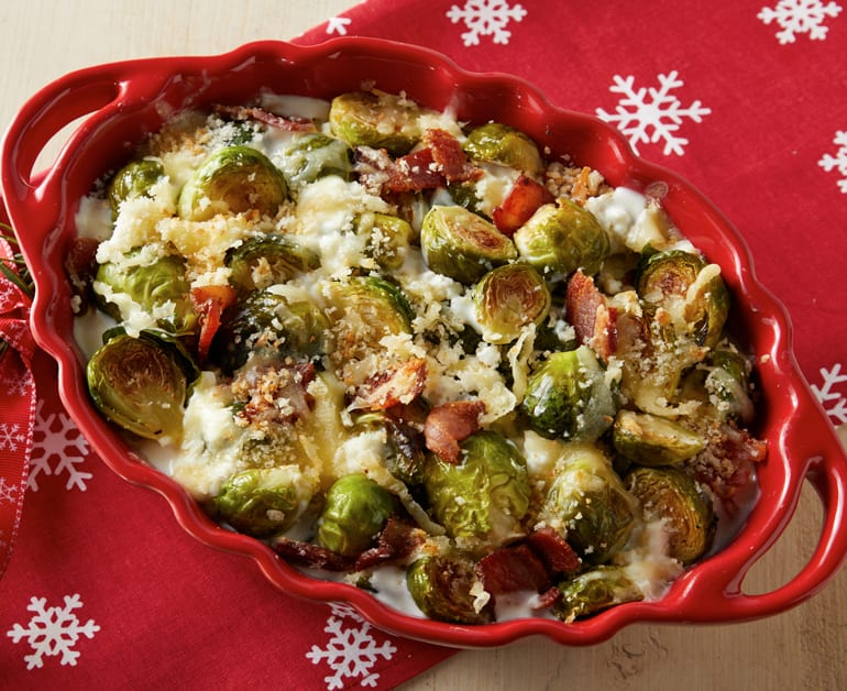 Click to open Roasted Brussels Sprouts Gratin recipe