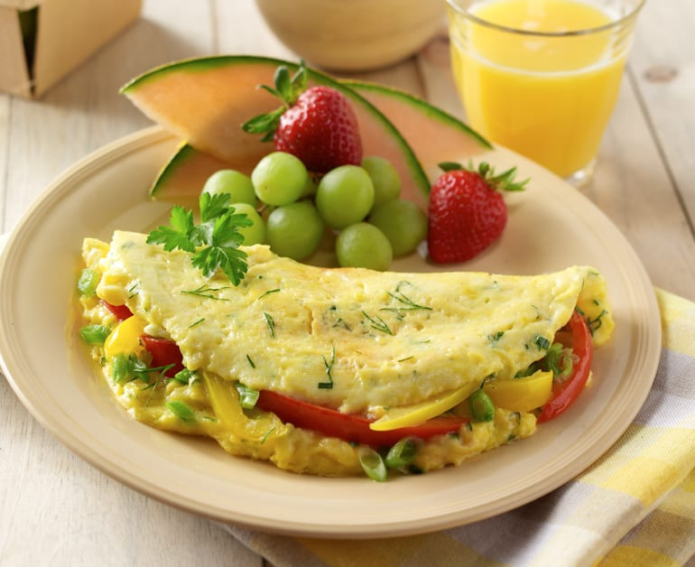 Cheesy Herb Omelette slider image 1