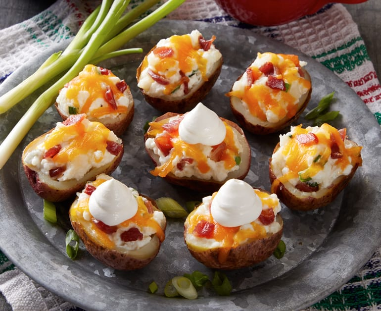View recommended Cheesy Potato Skins recipe