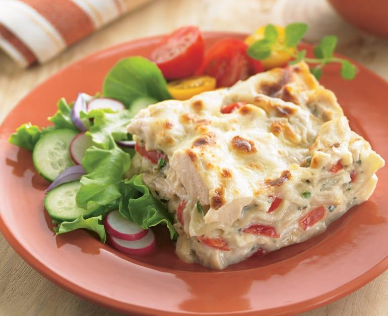 View recommended Chicken Alfredo Lasagna recipe