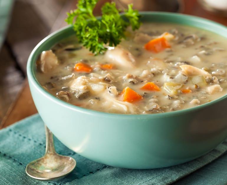 Thumbnail image for Sopa Cremosa de Pollo y Arroz