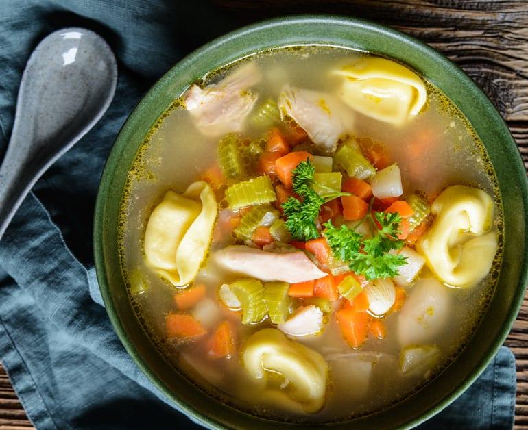 Chicken Tortellini Soup slider image 1