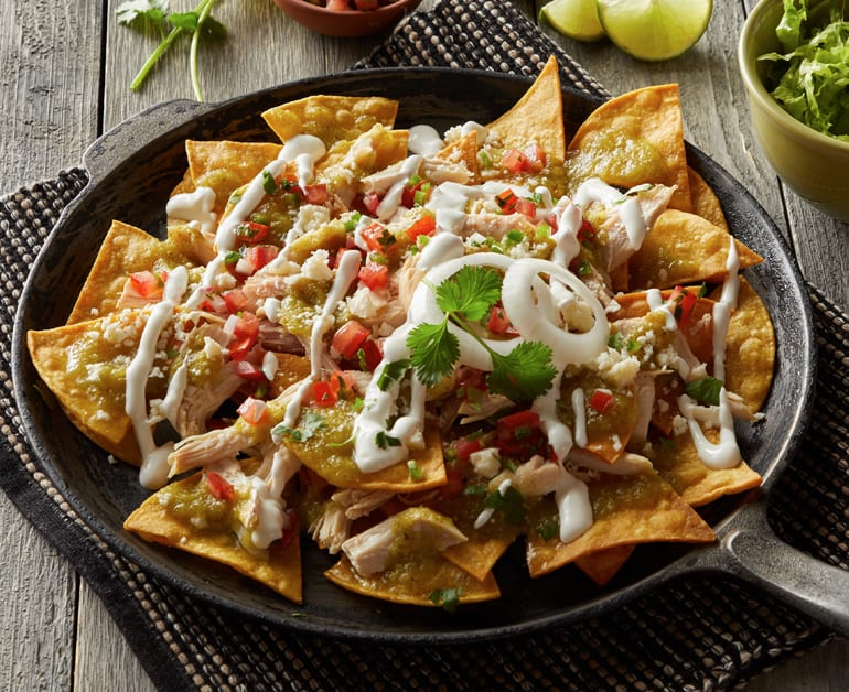 Loaded Beef Nachos Recipe With Sour Cream Daisy Brand
