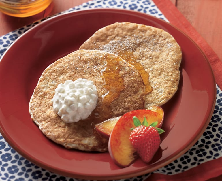 Cottage Cheese Oatmeal Pancakes slider image