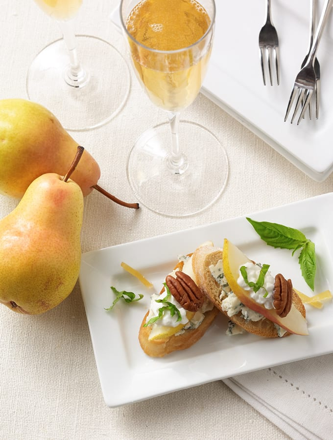 Cottage Cheese and Pear Crostini slider image 2