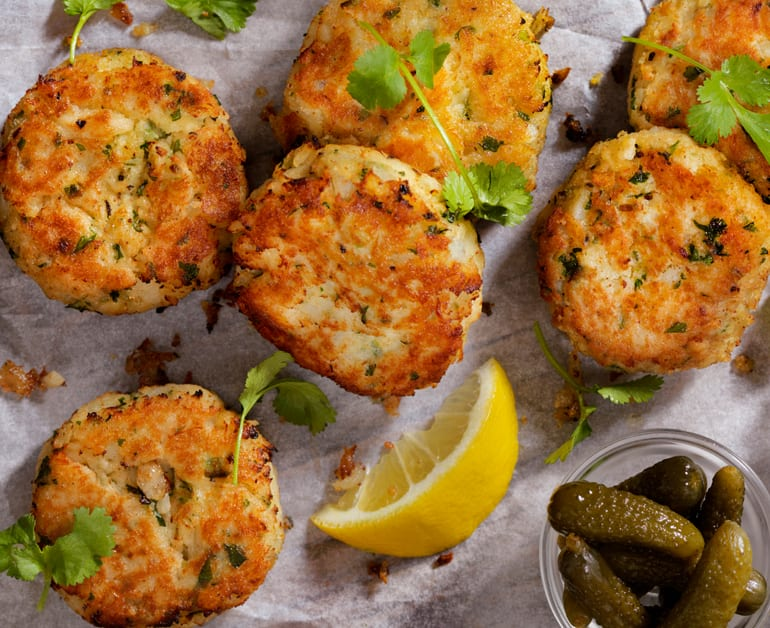 Crab and shrimp cake