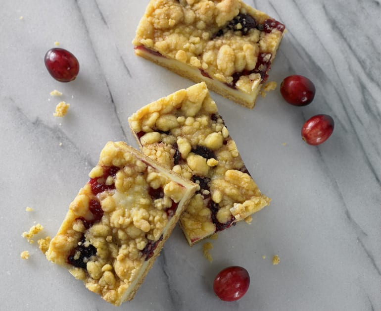 Cranberry Cheesecake Bars slider image 1