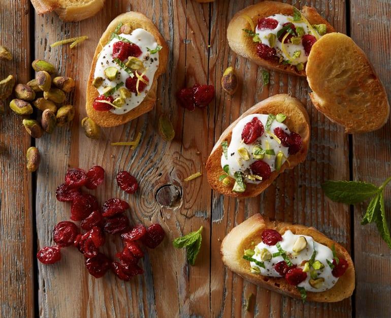 Cranberry Pistachio Crostini slider image 1