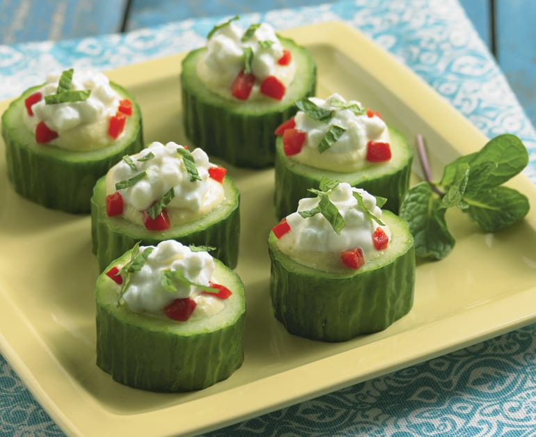 View recommended Creamy Cucumber Cups recipe