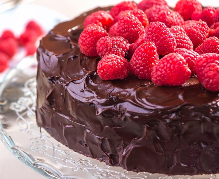 Divine Chocolate Raspberry Sour Cream Cake slider image 1