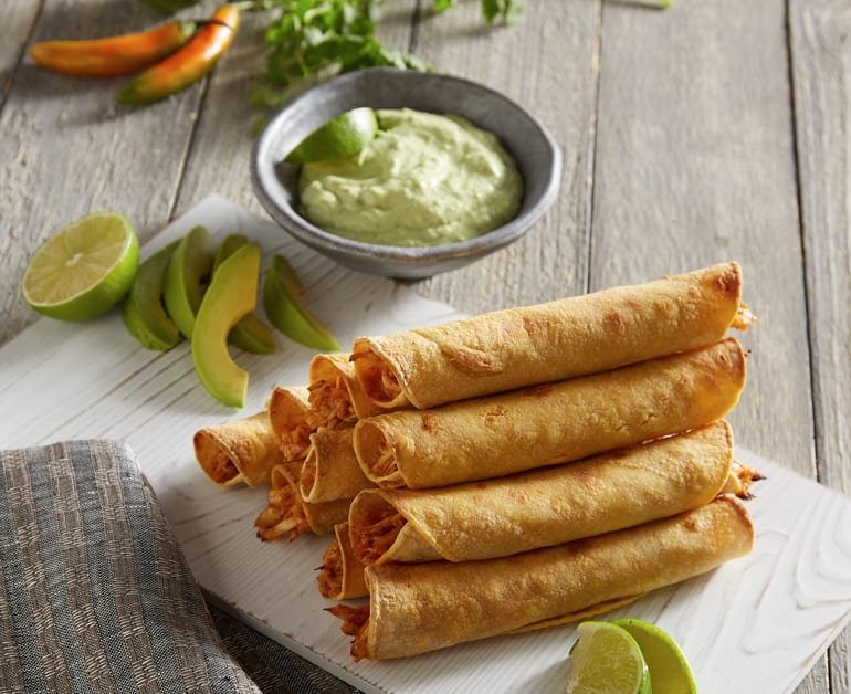 Click to open Easy Baked Chicken Taquitos recipe