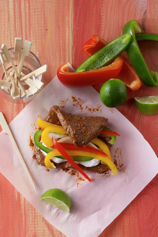 Grilled Steak Fajita Rolls