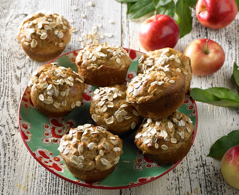 Thumbnail image for Hearty Apple Oatmeal Muffins