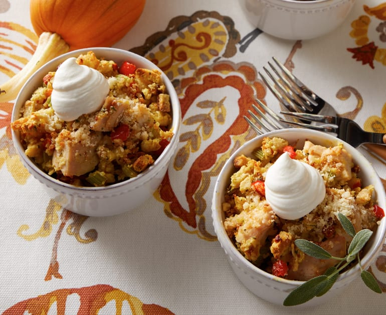 Individual Turkey Stuffing Bakes slider image 1