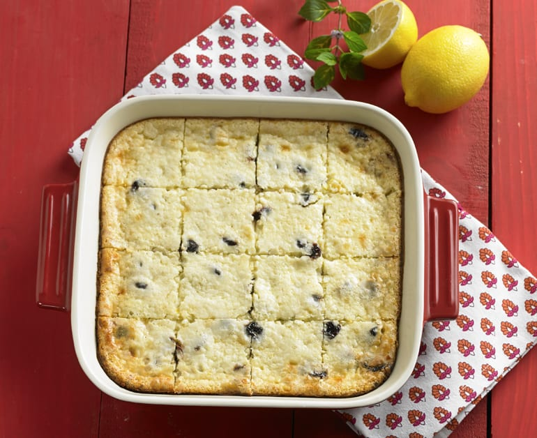 View recommended Lemon Cheese Bars with Chocolate and Cherries recipe