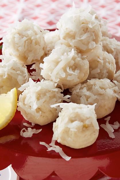 Lemon coconut snowballs