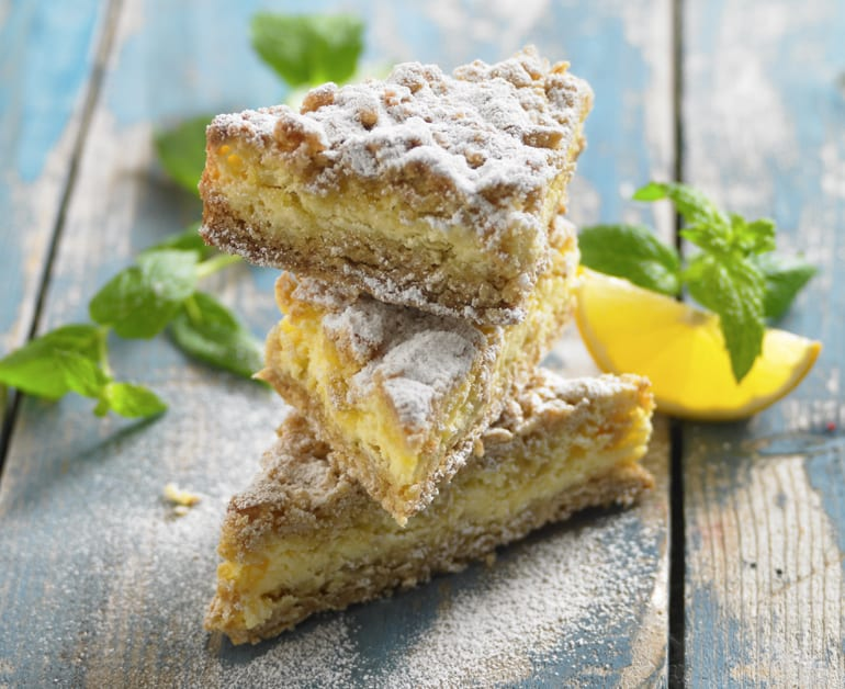 View recommended Lemon Crumble Bars recipe