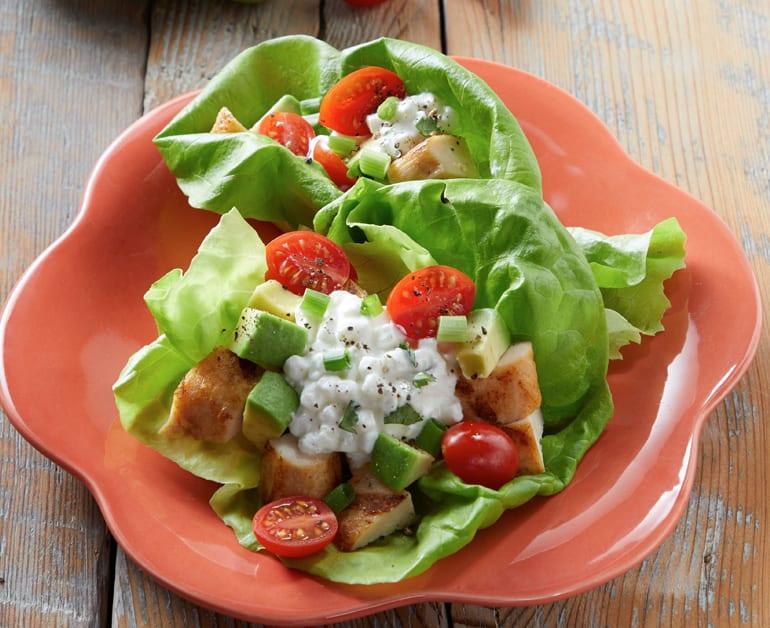 Avocado Chicken Lettuce Roll-Ups slider image