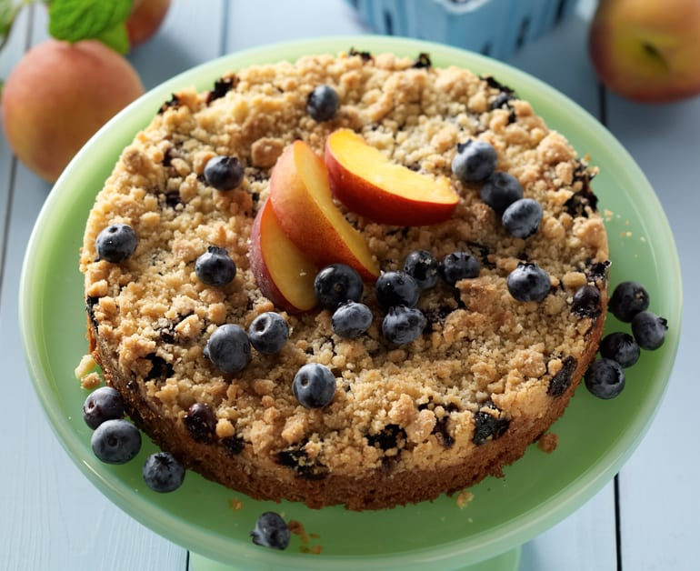 Peach and Blueberry Crumble slider image