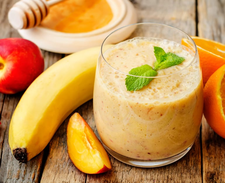 peach banana orange smoothie
